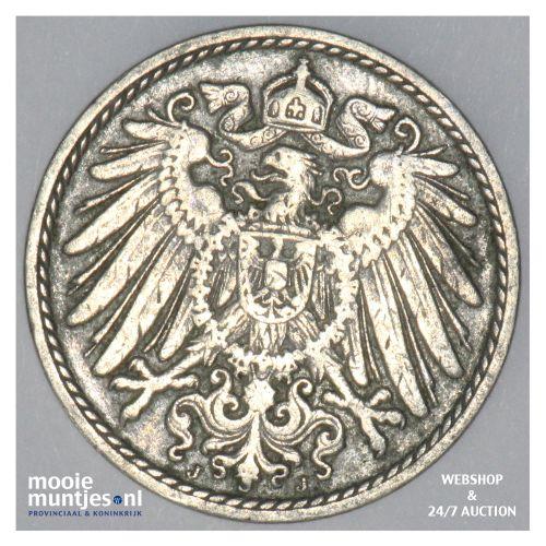 5 pfennig - Germany 1904 J (KM 11) (kant B)