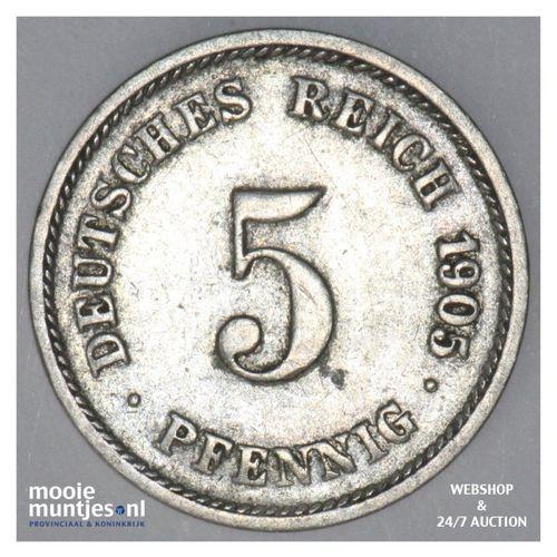 5 pfennig - Germany 1905 J (KM 11) (kant A)