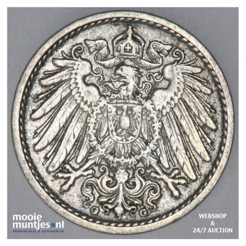 5 pfennig - Germany 1905 J (KM 11) (kant B)