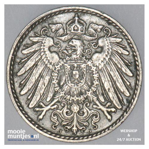 5 pfennig - Germany 1909 J (KM 11) (kant B)