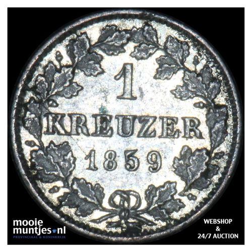 kreuzer - kingdom (regular coinage) - German States/Wurttemberg 1859 (KM 600) (k