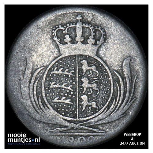 6 kreuzer - kingdom (regular coinage) - German States/Wurttemberg 1809  (KM 495)