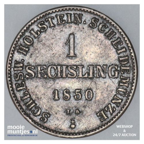 sechsling - provisional government - German States/Schleswig-Holstein 1850 (KM 1
