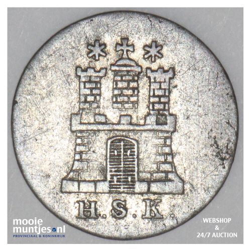 dreiling (3 pfennig) - German States/Hamburg 1841 (KM 554) (kant B)