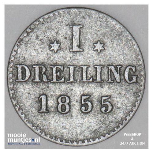 dreiling (3 pfennig) - German States/Hamburg 1855 (KM 582) (kant A)