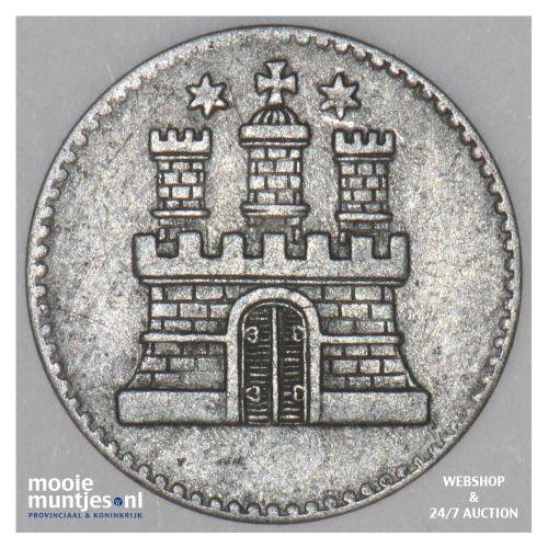 dreiling (3 pfennig) - German States/Hamburg 1855 (KM 582) (kant B)