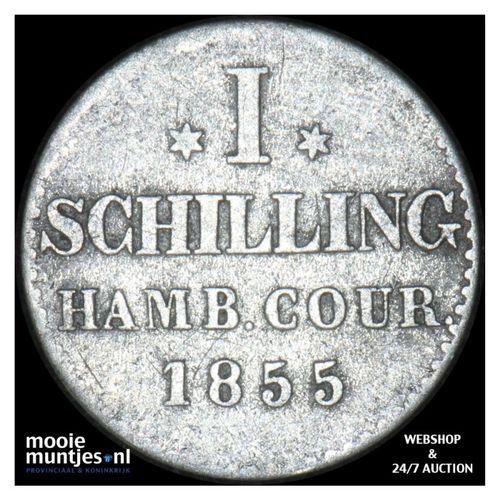 schilling - German States/Hamburg 1855 (KM 586) (kant A)