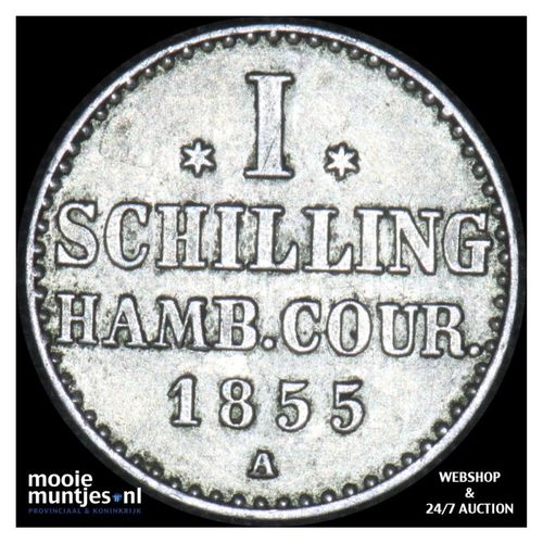 schilling - German States/Hamburg 1855 A (KM 586) (kant A)