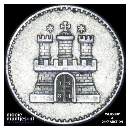 schilling - German States/Hamburg 1855 A (KM 586) (kant B)