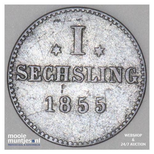 sechsling (6 pfennig) - German States/Hamburg 1855 (KM 585) (kant A)