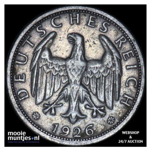 2 reichsmark - Weimar Republic 1826 D (KM 45) (kant A)