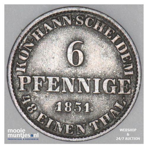 6 pfennig - German States/Hannover 1851 (KM 205) (kant A)