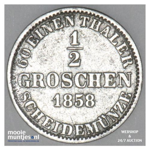 1/2 groschen - German States/Hannover 1858 (KM 235) (kant A)