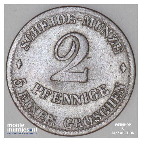 2 pfennig - German States/Saxe-Coburg-Gotha 1852 (KM 104) (kant B)