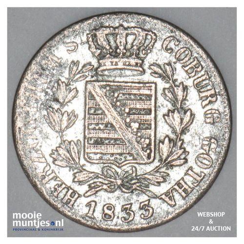 3 kreuzer - German States/Saxe-Coburg-Gotha 1833 (KM 39) (kant A)