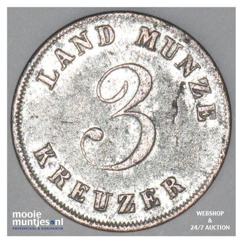 3 kreuzer - German States/Saxe-Coburg-Gotha 1833 (KM 39) (kant B)