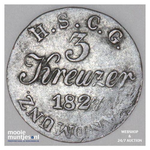 3 kreuzer - German States/Saxe-Coburg-Gotha 1827 ST (KM 7) (kant A)