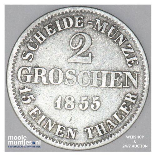 2 groschen - German States/Saxe-Coburg-Gotha 1855 (KM 110) (kant A)