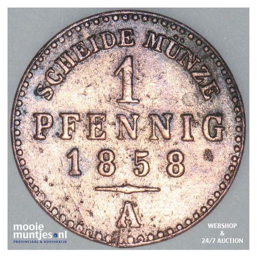 pfennig - grand duchy - German States/Saxe-Weimar-Eisenach 1858 (KM 205) (kant A