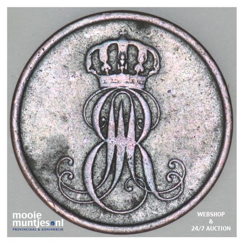2 pfennig - German States/Hannover 1851 (KM 202.1) (kant B)