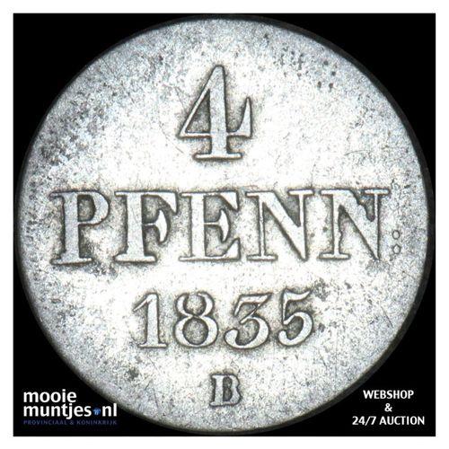 4 pfennig (1/2 mariensroschen) - German States/Hannover 1835 (KM 168) (kant A)