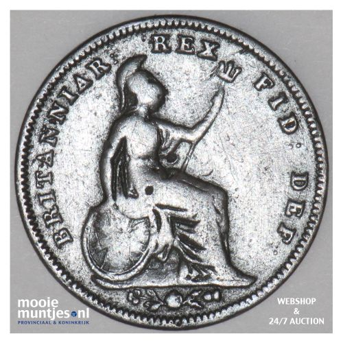 1/3 farthing - Great Britain 1827 (KM 703) (kant B)