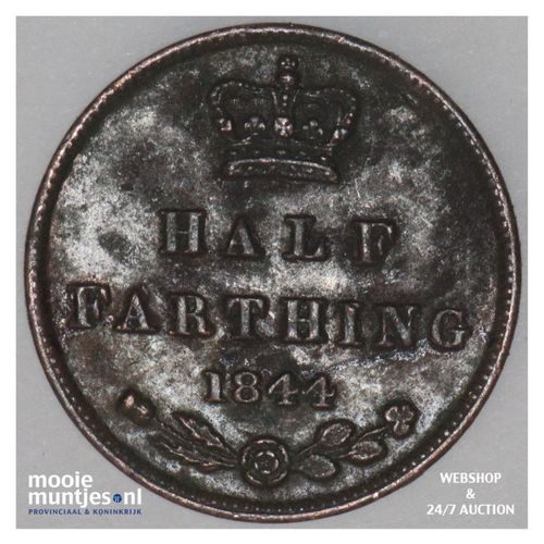 1/2 farthing - Great Britain 1844 (KM 738) (kant A)