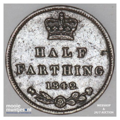 1/2 farthing - Great Britain 1842 (KM 738) (kant A)