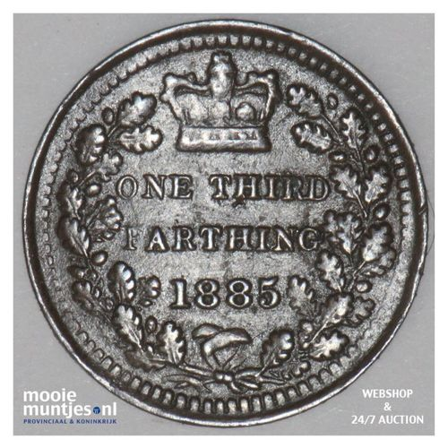 1/3 farthing - Great Britain 1885 (KM 750) (kant A)
