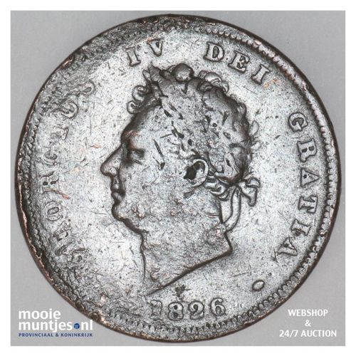 penny - Great Britain 1826 (KM 693) (kant A)
