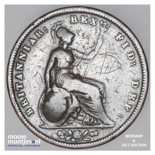 penny - Great Britain 1831 (KM 707) (kant B)