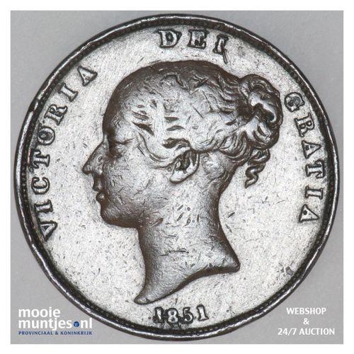 penny - Great Britain 1851 far colon (KM 739) (kant A)