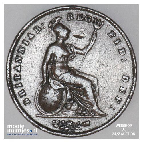 penny - Great Britain 1851 far colon (KM 739) (kant B)