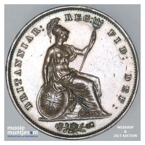 penny - Great Britain 1854 over 53 (KM 739) (kant B)