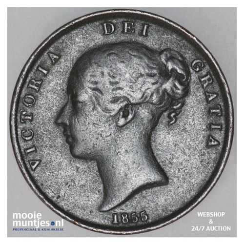 penny - Great Britain 1855 (KM 739) (kant A)