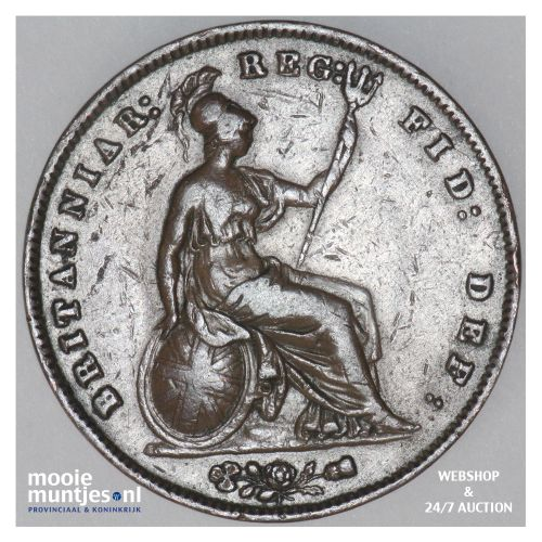 penny - Great Britain 1857 (KM 739) (kant B)