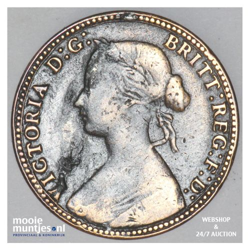 1/2 penny - Great Britain 1860 (KM 748.2) (kant B)