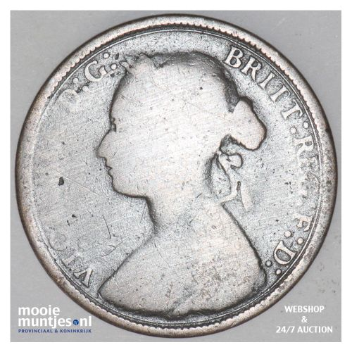 1/2 penny - Great Britain 1880 (KM 754) (kant B)