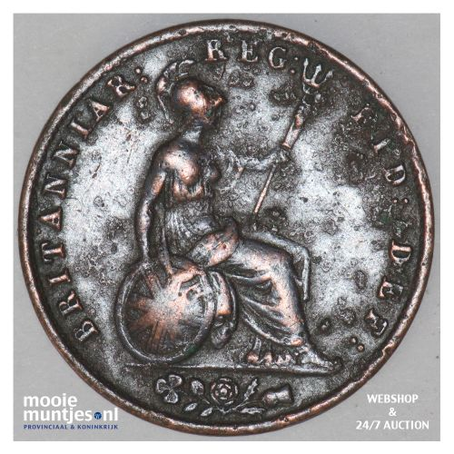 1/2 penny - Great Britain 1844 (KM 726) (kant B)