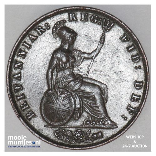1/2 penny - Great Britain 1857 (KM 726) (kant B)