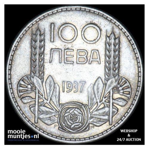 100 leva - kingdom - Bulgaria 1937 (KM 45) (kant A)