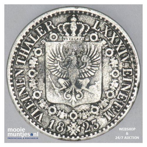1/6 thaler - German States/Prussia 1823 A (KM 411) (kant A)
