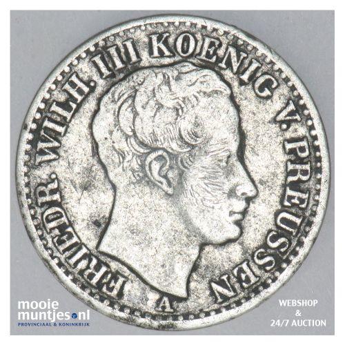 1/6 thaler - German States/Prussia 1823 A (KM 411) (kant B)