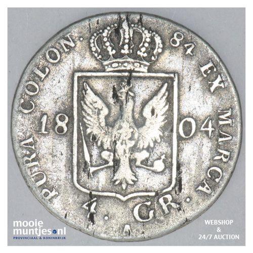 4 groschen - German States/Prussia 1804 A (KM 370) (kant A)