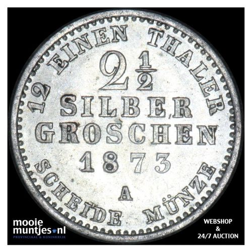 2 1/2 silber groschen - German States/Prussia 1873 A (KM 486) (kant A)