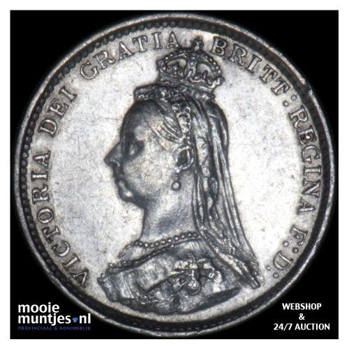 3 pence - Great Britain 1887 (KM 758) (kant B)