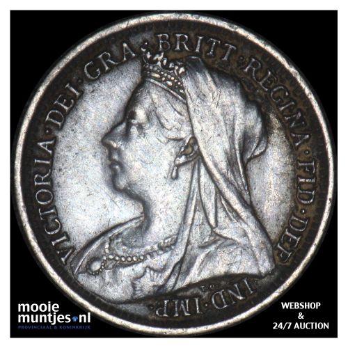 3 pence - Great Britain 1899 (KM 777) (kant B)