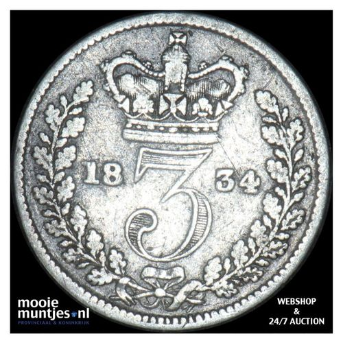 4 pence (groat) - Great Britain 1834 (KM 711) (kant A)