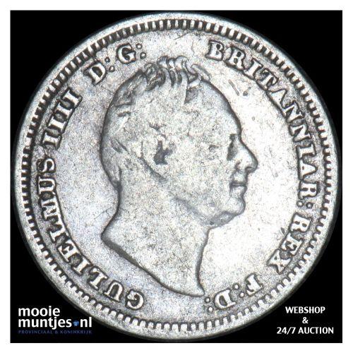 4 pence (groat) - Great Britain 1834 (KM 711) (kant B)