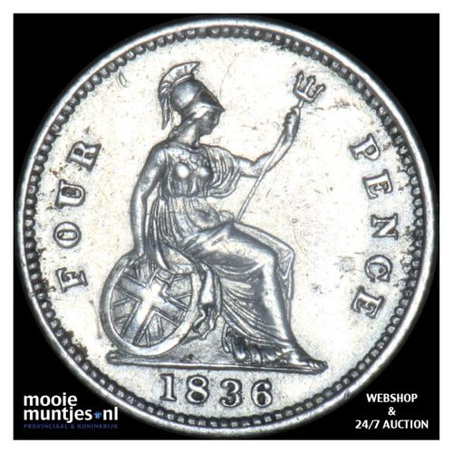 4 pence (groat) - Great Britain 1838 (KM 711) (kant A)